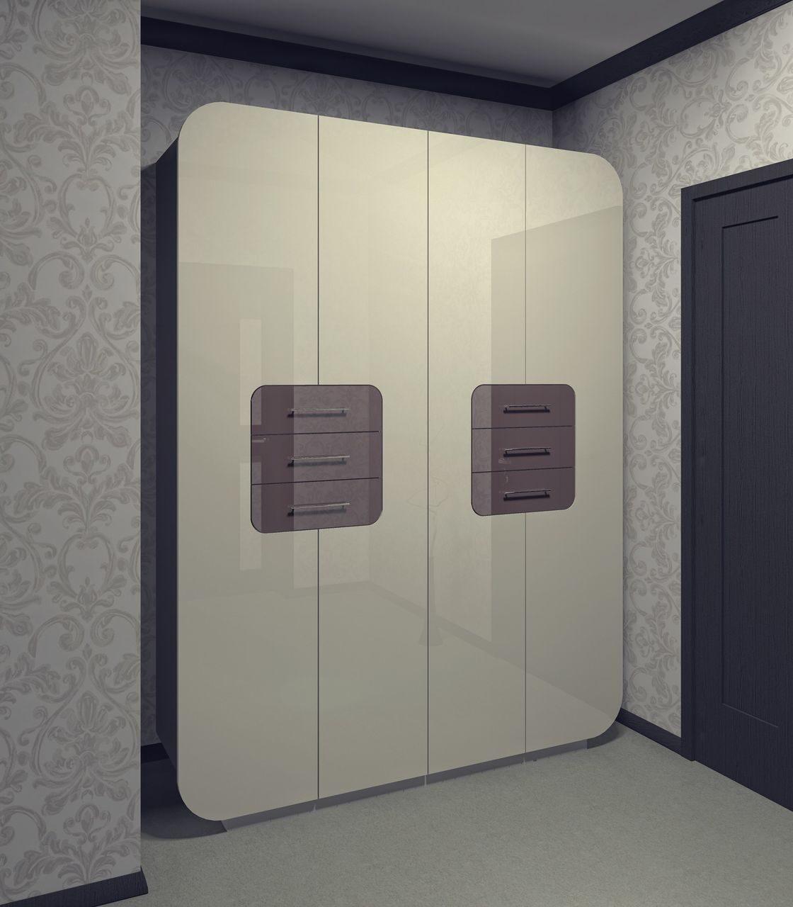 Купить гектор - 17 - шкаф распашной четырехдверный фасады мд.